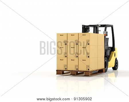 Logistic. 3d rendering