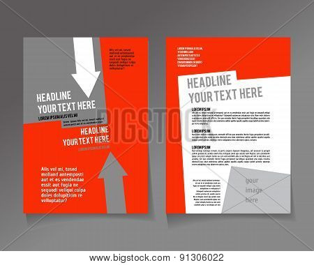 Editable A4 poster for design