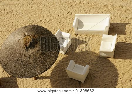 Sandy beach top view