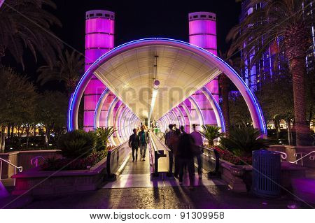 Entrance Of Ballys Hotel And Casino On The Vegas Strip In Las Vegas