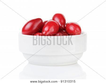 fresh bogwood berries isolated on white