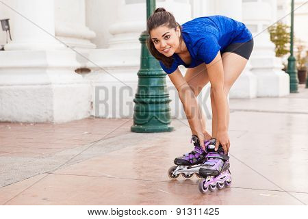 Putting On My Inline Skates