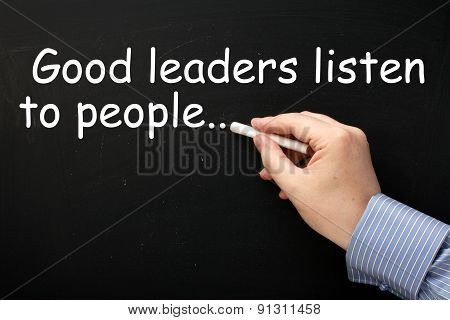 Good Leaders Listen