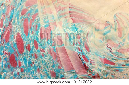 blue red spotted ebru