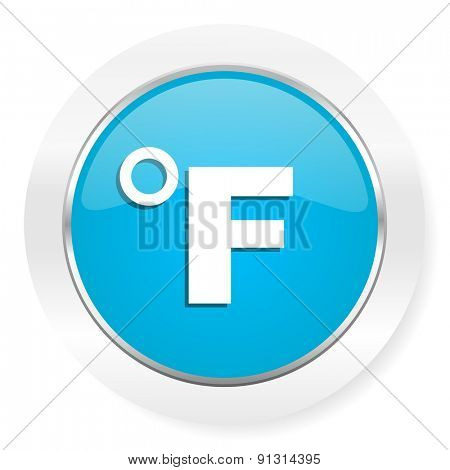 fahrenheit icon temperature unit sign