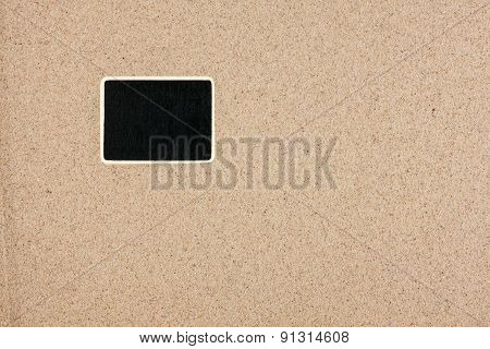 Pointer, Ads Board In The Form Rectangle In The Sand