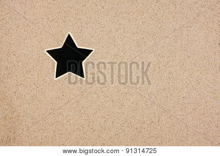 Pointer, Ads Board In The Form Star In The Sand