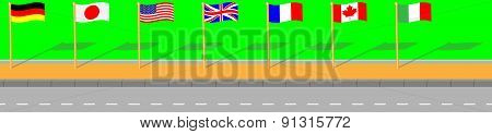 Street With Flag G7