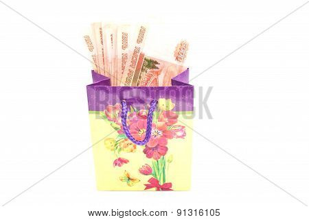 Colorful Gift Bag With Money