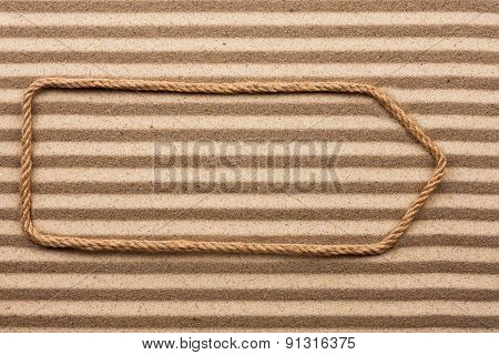 Pointer Made Of Rope On The Sand