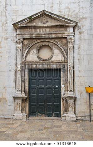 Church of St. Maria di Porta Santa. Andria. Puglia. Italy.