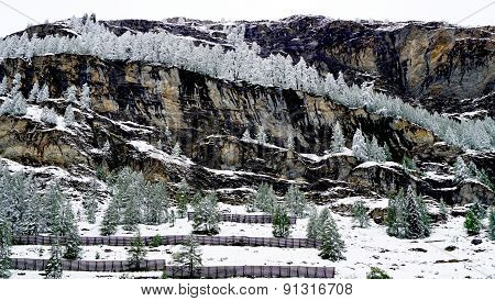 Scenery Of Zermatt Snow Mountains