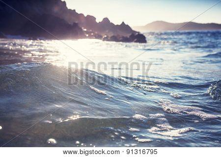 Wave on the beach
