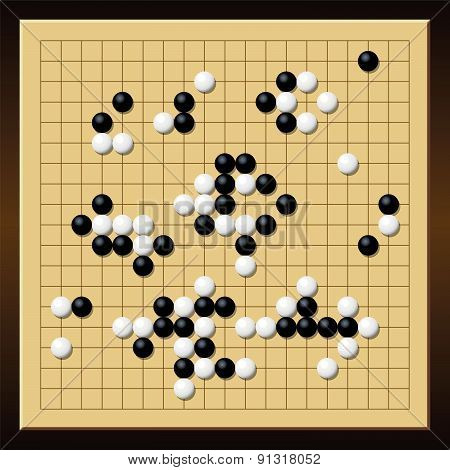 Go Game Gobang Gomoku Chinese Board