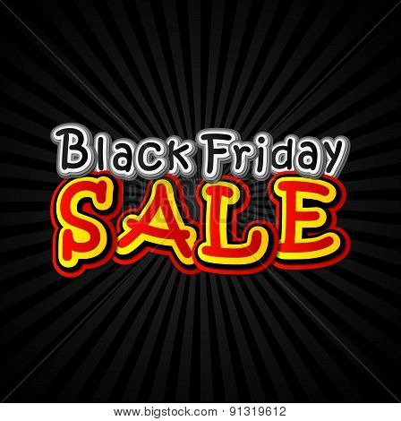Poster Black Friday sale in the pop art style.