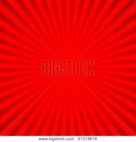 Red vector background of radial lines.