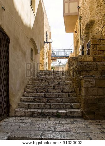 Alley And Ladder Of City Of Jaffa