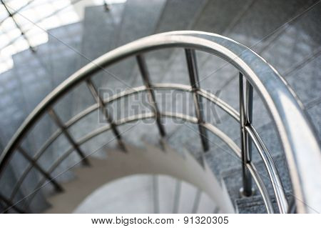 Spiral  Staircase Detail Close Up