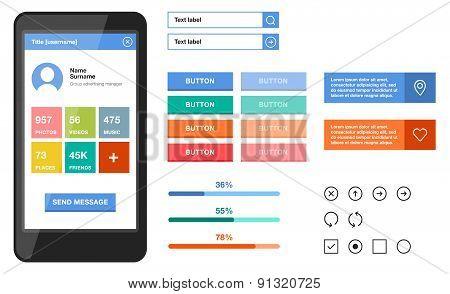 Simple mobile flat UI