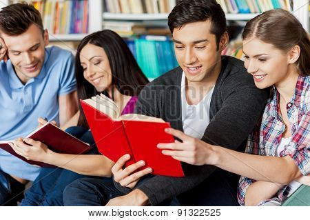 Students In Library.