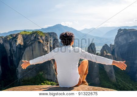 Man on the mountains