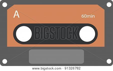 Vector Illustration Of Cassette Tape