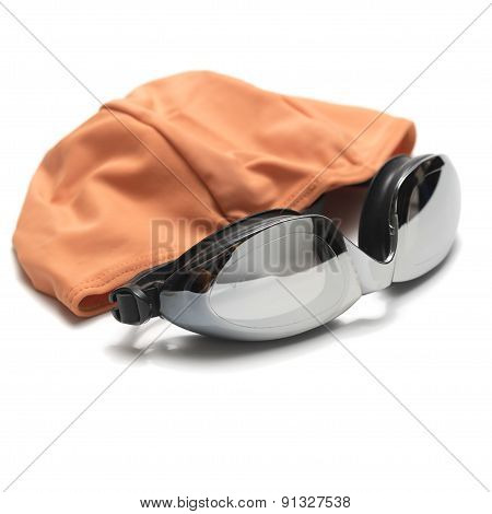 Swimming Goggles And Towel