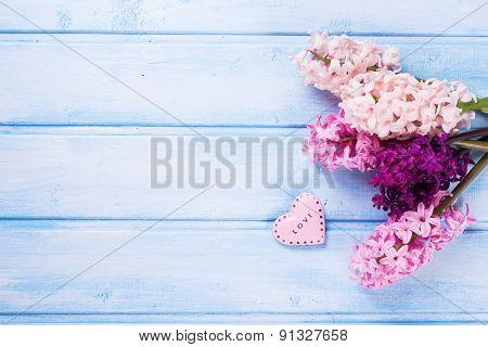 Fresh Flowers Hyacynths And Heart