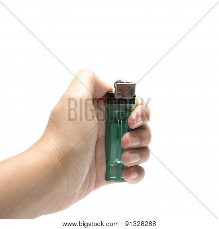 Hand Holding Lighter