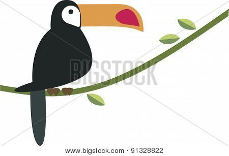 Vector Illustration Of A Toucan