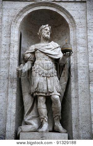 Statue Di Carlo Magno In Rome, Italy