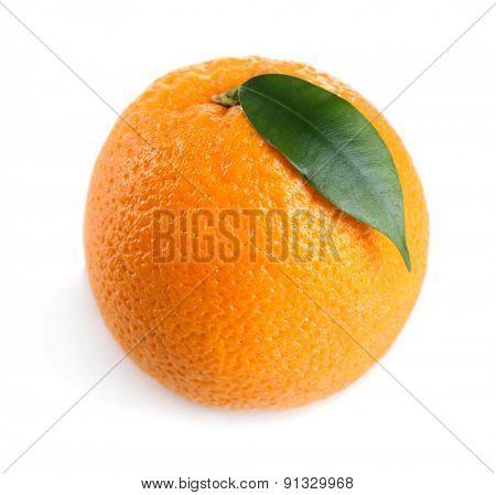 Ripe orange isolated on white