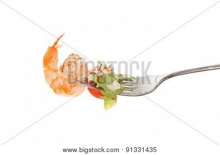 Prawn On Fork