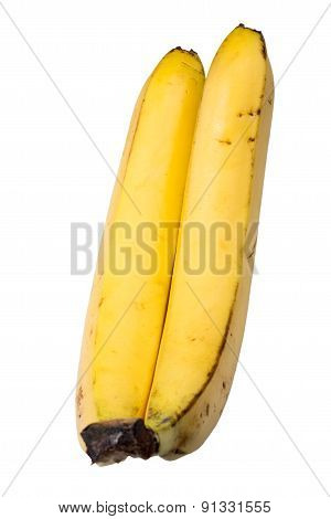Two Banana On A White Background