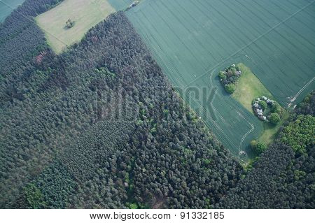 Fields And Meadows, Brandenburg, Germany