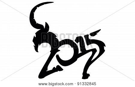 Chinese Symbol Vector Goat 2015 Year Illustration Image Design