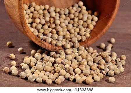 White Pepper Seeds In A Bowl