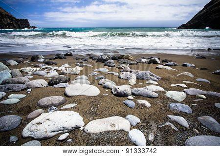 On the beach Gomera island, Spain