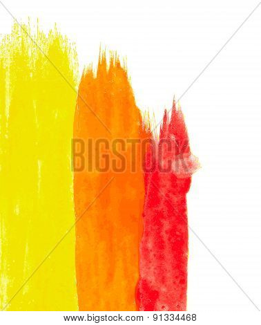 Abstract Watercolor Splash Element Vector Illustration