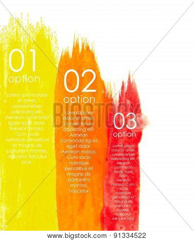 Watercolor Infographic Templates for Business Vector Illustratio
