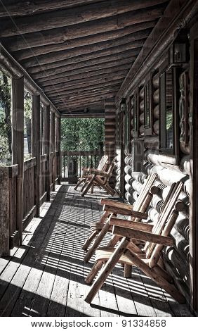 Log Cabin Porch