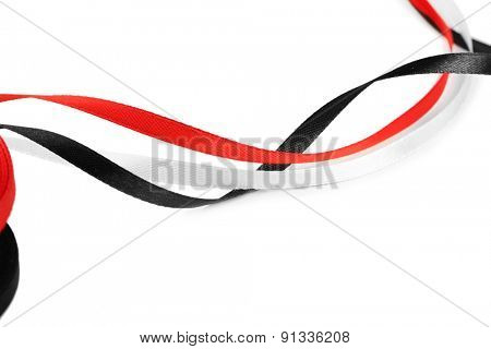 Colorful ribbons isolated on white