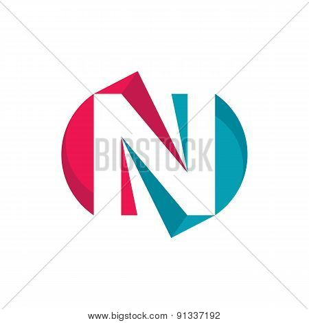 Letter N - vector logo concept illustration.