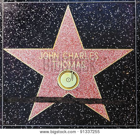 John Charles Thomas Star On Hollywood Walk Of Fame