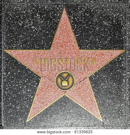 Barbara Edens Star On Hollywood Walk Of Fame