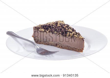 Chocolate Cheesecake Plate