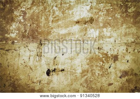 dirty background, brown wall, vector
