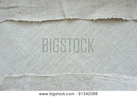 The texture of flax; frame