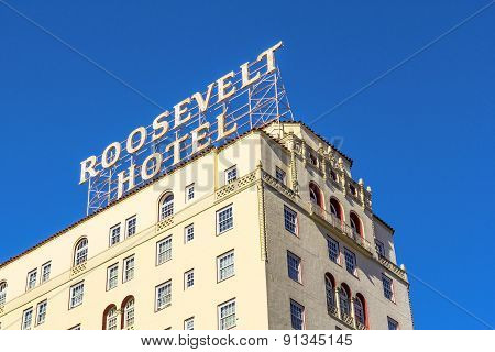 Facade Of Famous Historic Roosevelt Hotel