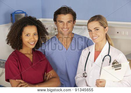 Hospital doctors and nurse portrait